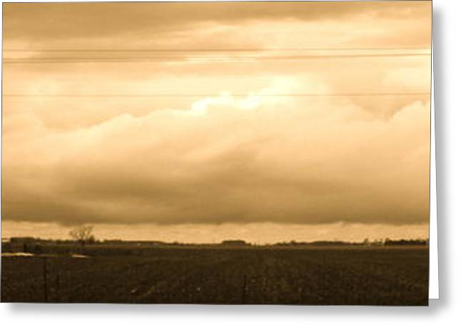 Cornfield Mixed Media Greeting Cards - Heartland  Greeting Card by Bruce McEntyre
