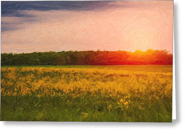 Heartland Glow Greeting Card by Tom Mc Nemar