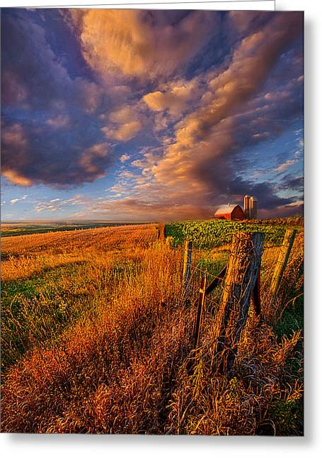Farming Barns Greeting Cards - Heartland Greeting Card by Phil Koch