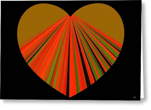 Heartline 5 Greeting Card by Will Borden