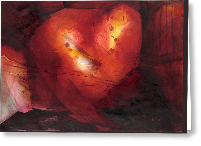 Intrigue Greeting Cards - Hearts Afar Greeting Card by Mary Sawyer Atkinson