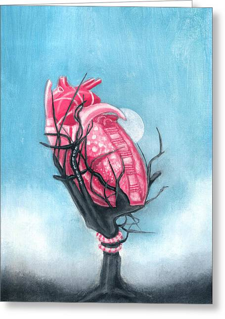 Dark Greeting Cards - Hearts Apart Greeting Card by Rouble Rust