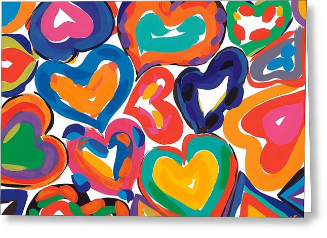 Samsung Greeting Cards - Hearts in Motion Greeting Card by Sarah Gillard