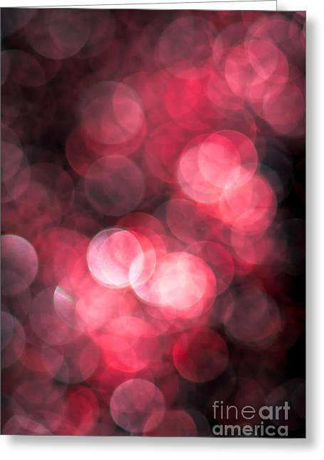 Warm Colours Abstract Greeting Cards - Heartstrings Greeting Card by Jan Bickerton