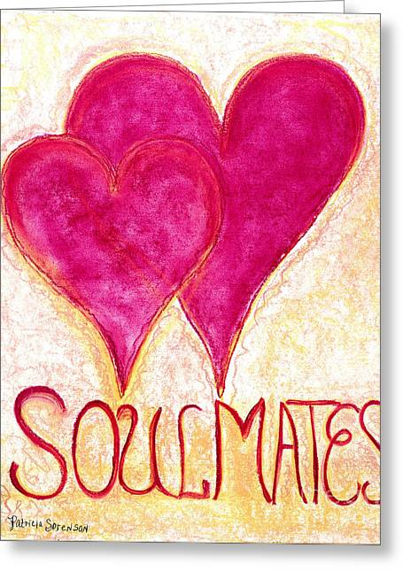 Souls Pastels Greeting Cards - Heartww049 Greeting Card by Patricia