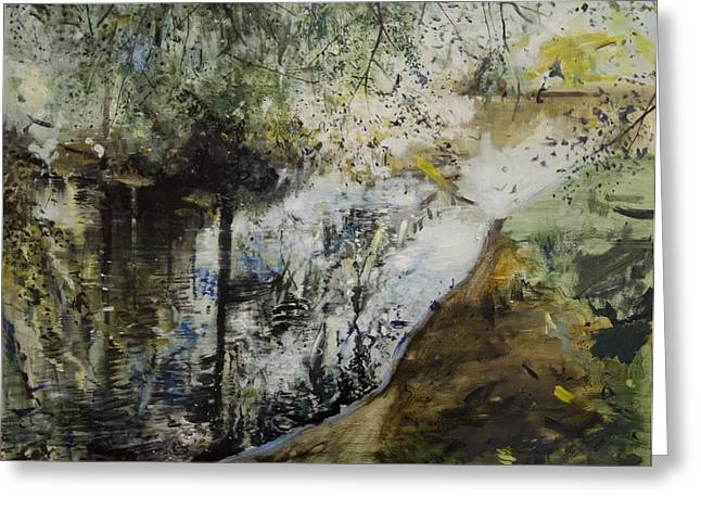 Reflecting Water Paintings Greeting Cards - Heat and Shade Greeting Card by Calum McClure