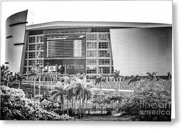 American Airlines Arena Greeting Cards - American Airlines Arena Stadium Greeting Card by Rene Triay Photography