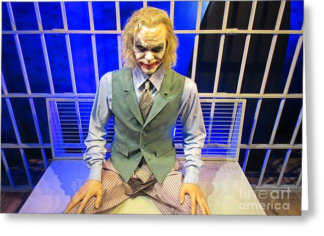 Super Stars Sculptures Greeting Cards - Heath Ledger as the Joker Greeting Card by John Malone