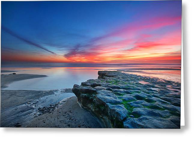 Long Exposure Greeting Cards - Heaven and Earth Greeting Card by Larry Marshall