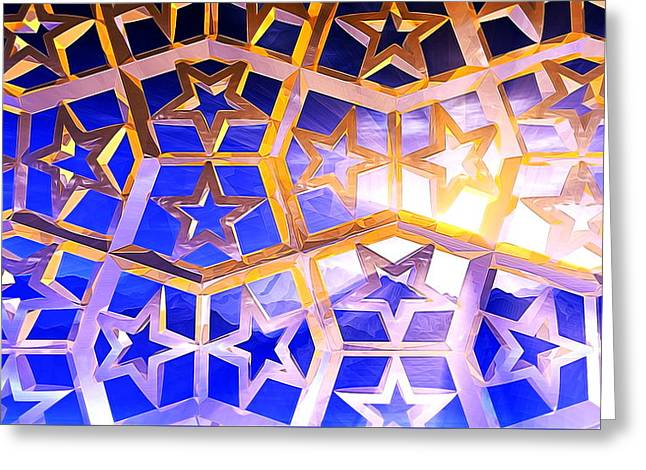 Geometric Image Greeting Cards - Heaven Greeting Card by Andreas Thust