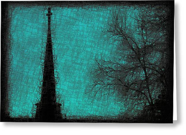 Steeple Mixed Media Greeting Cards - Heaven Bound Greeting Card by Kathy Franklin