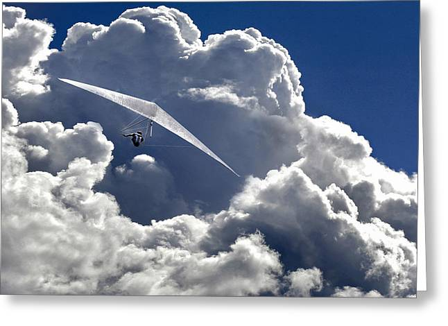 Flying Greeting Cards - Heaven Can Wait Greeting Card by Matjaz Cater