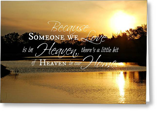 Reflections Of Sun In Water Greeting Cards - Heaven in Our Home Greeting Card by Erin Theisen