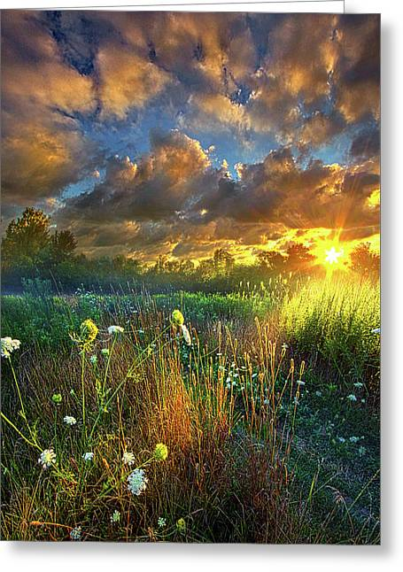 Heaven Knows Greeting Card by Phil Koch
