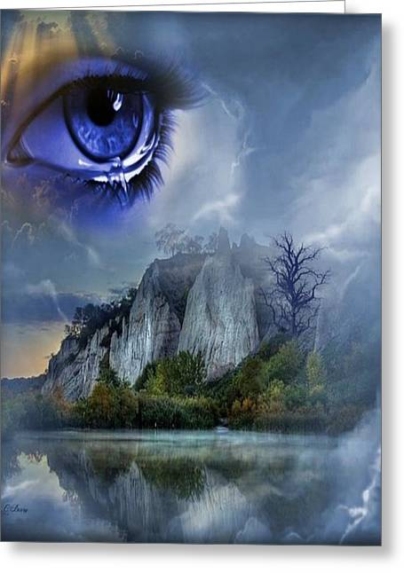 Tears Greeting Cards - Heavens Tears Greeting Card by G Berry