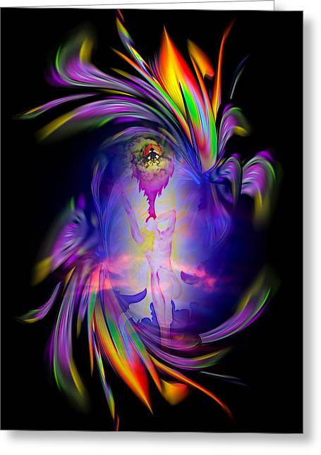 Angel Blues Greeting Cards - Heavenly apparition Greeting Card by Walter Zettl