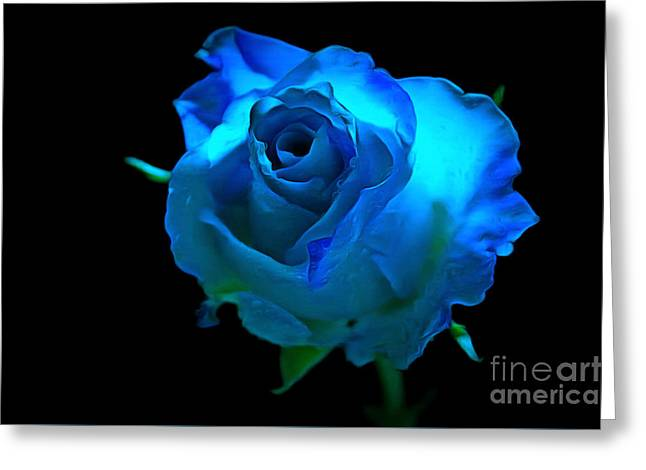 Heavenly Blues Greeting Card by Krissy Katsimbras