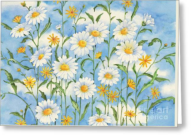 Daisy Greeting Cards - Heavenly Daisies Greeting Card by Paul Brent