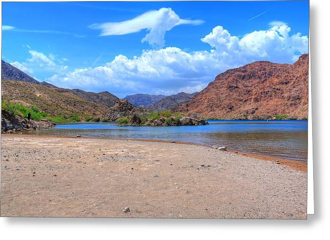 Willow Lake Greeting Cards - Heavenly Experience At Lake Mohave Greeting Card by John Absher