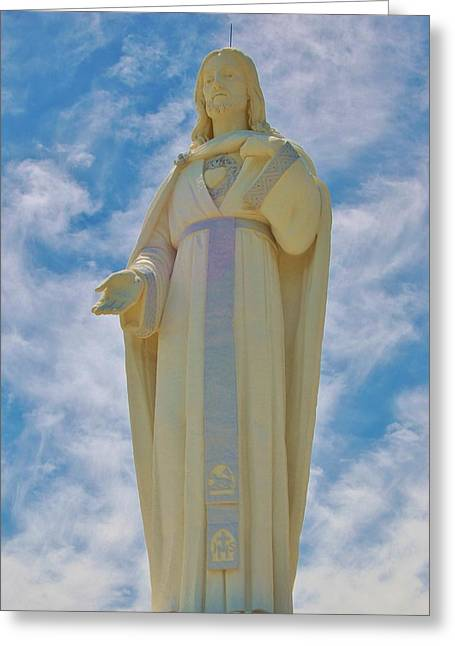 Rosary Greeting Cards - Heavenly Father Greeting Card by Christopher James