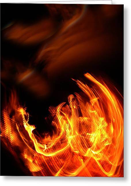 Fires Greeting Cards - Heavenly Flame Greeting Card by Donna Blackhall