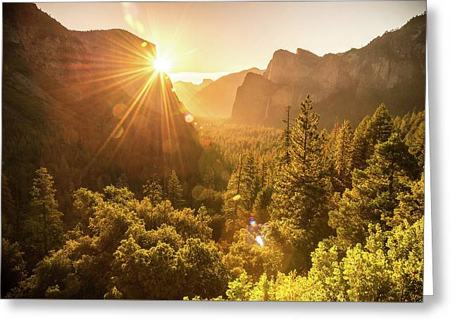 Heavenly Valley Greeting Card by Kristopher Schoenleber