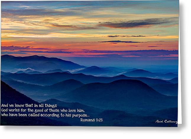 Heavenly View Sunrise And Faith Greeting Card by Reid Callaway