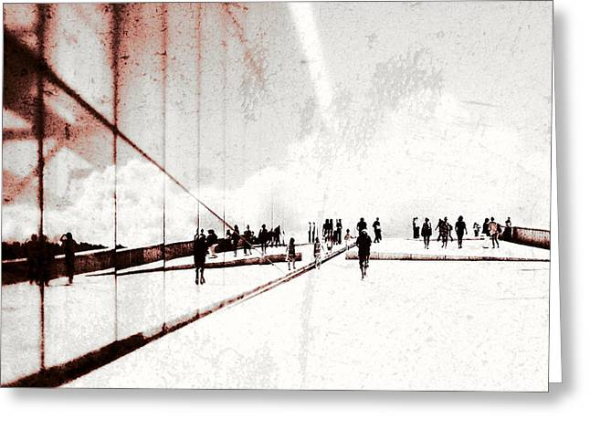 Streetphotography Greeting Cards - Heavenly walk in Oslo 1 Greeting Card by Marianne Hope