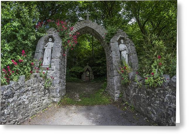 Entrance Door Greeting Cards - Heavens Archway Greeting Card by Ian Mitchell