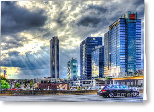 Heavens Door Midtown Atlanta Georgia Greeting Card by Reid Callaway