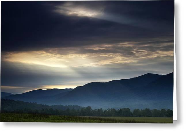 Surreal Landscape Greeting Cards - Heavens Light Greeting Card by Andrew Soundarajan