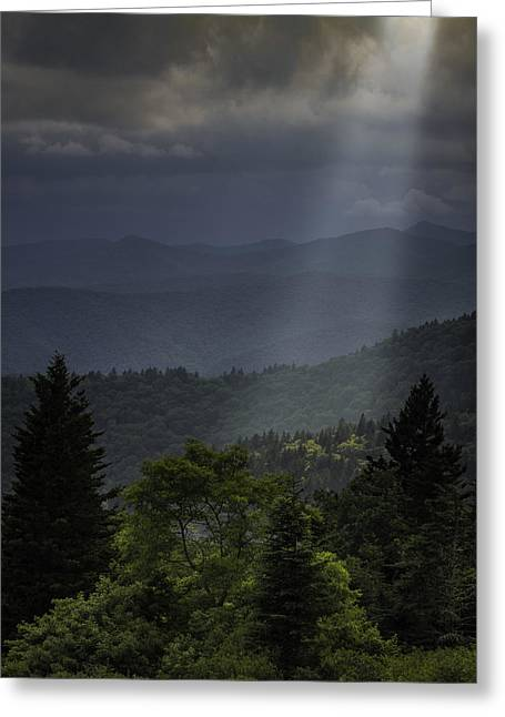 Storm Prints Greeting Cards - Heavens Light Greeting Card by Johan Hakansson