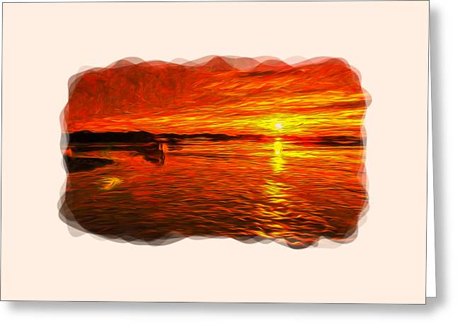 Disorganization Greeting Cards - Heavens Of Fire 2 Greeting Card by John Bailey