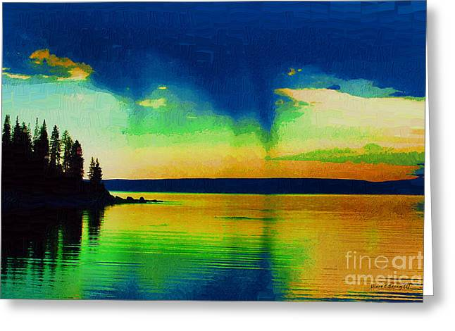 Yellowstone Digital Art Greeting Cards - Heavens Rest Greeting Card by Diane E Berry