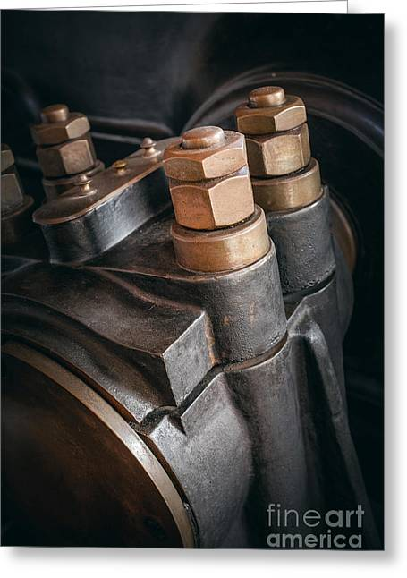 Heavy Industry Detail Greeting Card by Carlos Caetano