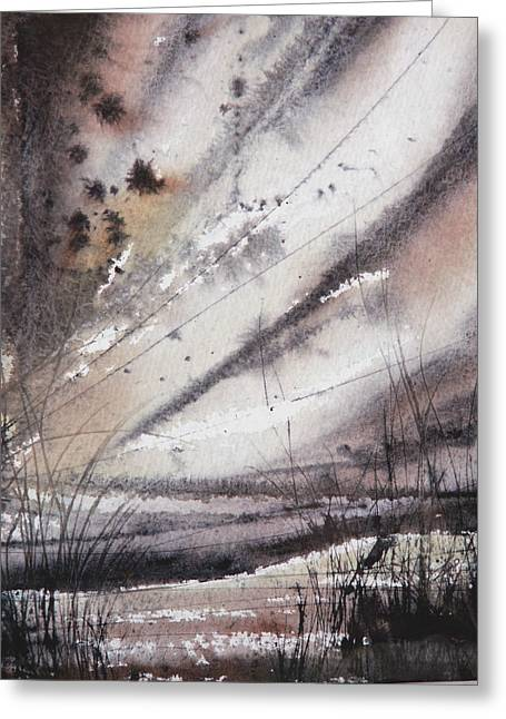 Heavy Rain Greeting Card by Keran Sunaski Gilmore