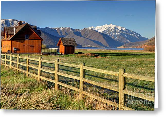 Heber Springs Greeting Cards - Heber Valley Ranch House - Wasatch Mountains Greeting Card by Gary Whitton