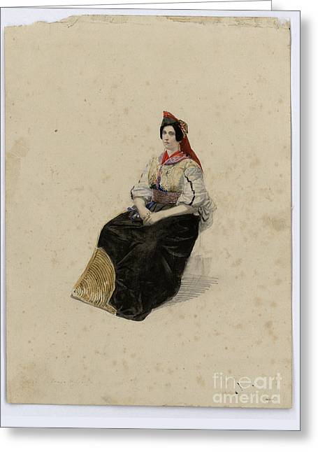 1874 Greeting Cards - Hebrew woman Greeting Card by MotionAge Designs
