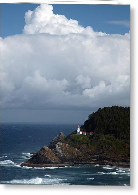 Heceta Greeting Cards - Heceta Head Lighthouse Greeting Card by Randall Ingalls