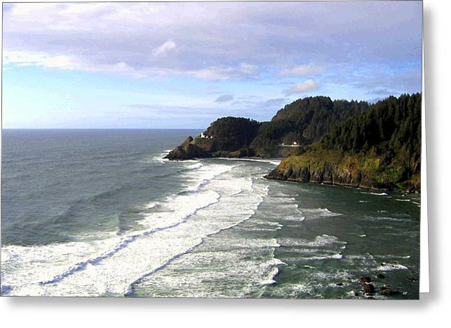 Heceta Greeting Cards - Heceta Head Lighthouse  Greeting Card by Will Borden