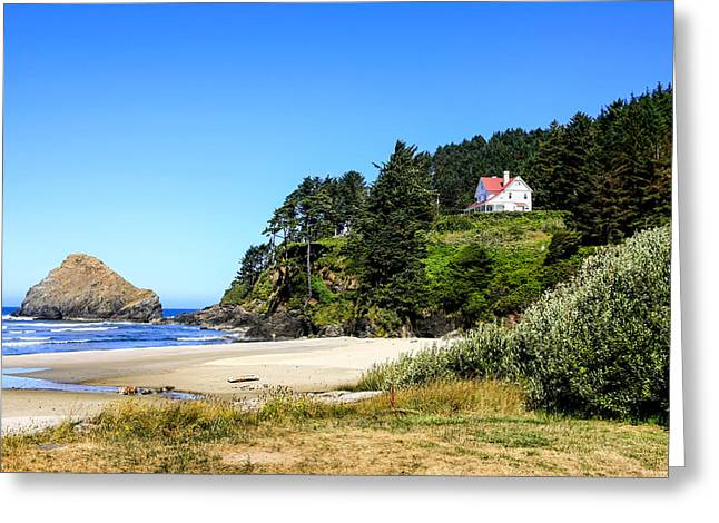 Outlook Greeting Cards - Heceta Head Oregon Greeting Card by Chris Smith