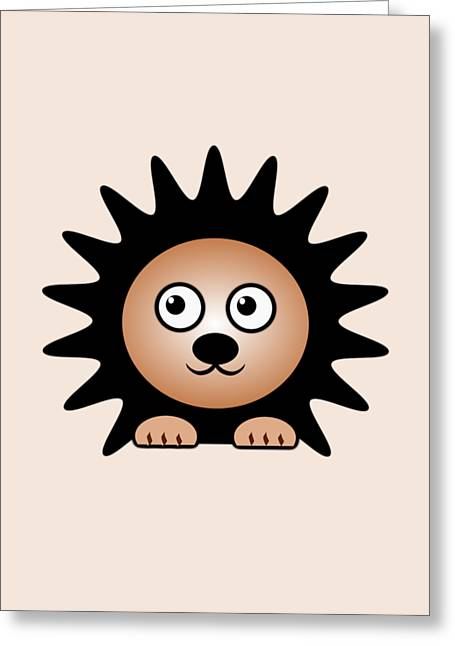 Little Boy Mixed Media Greeting Cards - Hedgehog - Animals - Art for Kids Greeting Card by Anastasiya Malakhova