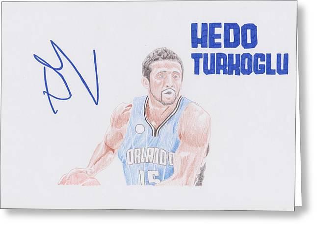 Hedo Turkoglu Greeting Card by Toni Jaso