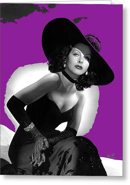 Hedy Lamarr  A Hollywood Movie Star Circa 1946 Color Added 2008 Greeting Card by David Lee Guss
