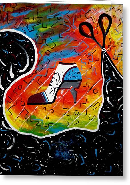 Kenal Louis Paintings Greeting Cards - Heel of Stars Greeting Card by Kenal Louis