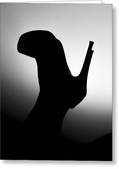 Female Body Greeting Cards - Heels silhouette Greeting Card by Tudor Catalin Gheorghe