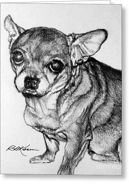 Hefty Chihuahua Greeting Card by Roy Anthony Kaelin