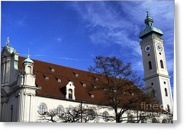 Deutschland Greeting Cards - Heiliggeistkirche Greeting Card by John Rizzuto