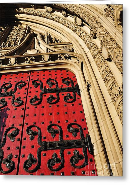 Recesses Greeting Cards - Heinz Chapel Doors Greeting Card by Thomas R Fletcher