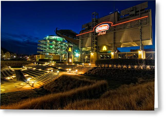 Heinz Field At Night Greeting Card by Mark Dottle